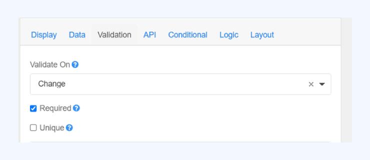 formsflow.ai form builder validation
